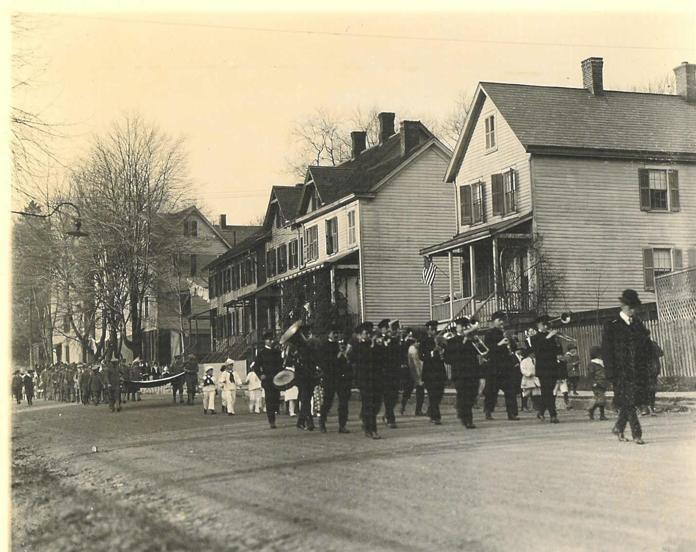 Parade on MacCulloch Avenue, circa 1920