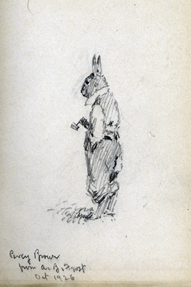 Sketch of Brer Rabbit, by A.B. Frost