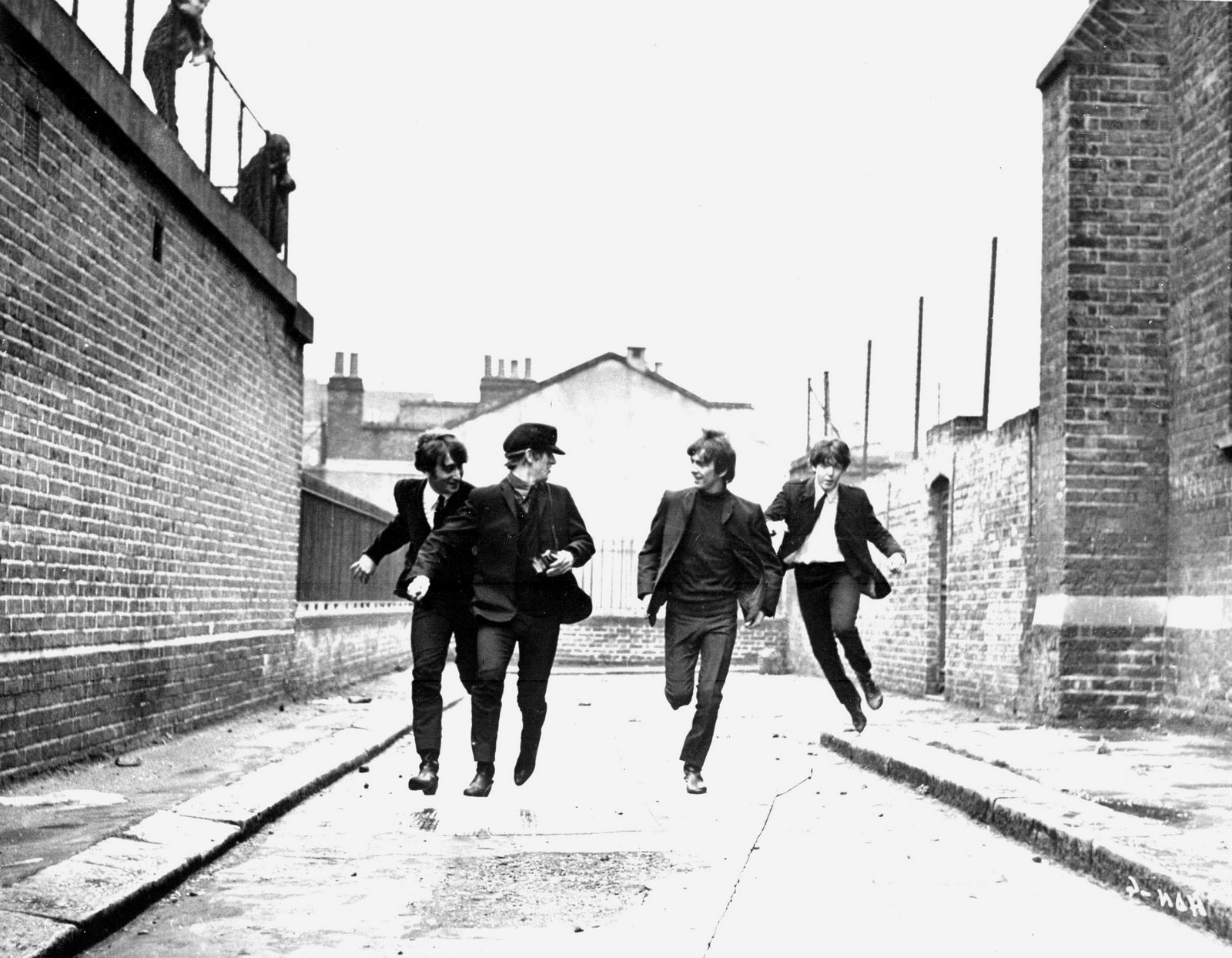 Movie Scene: Beatles Running on Street
