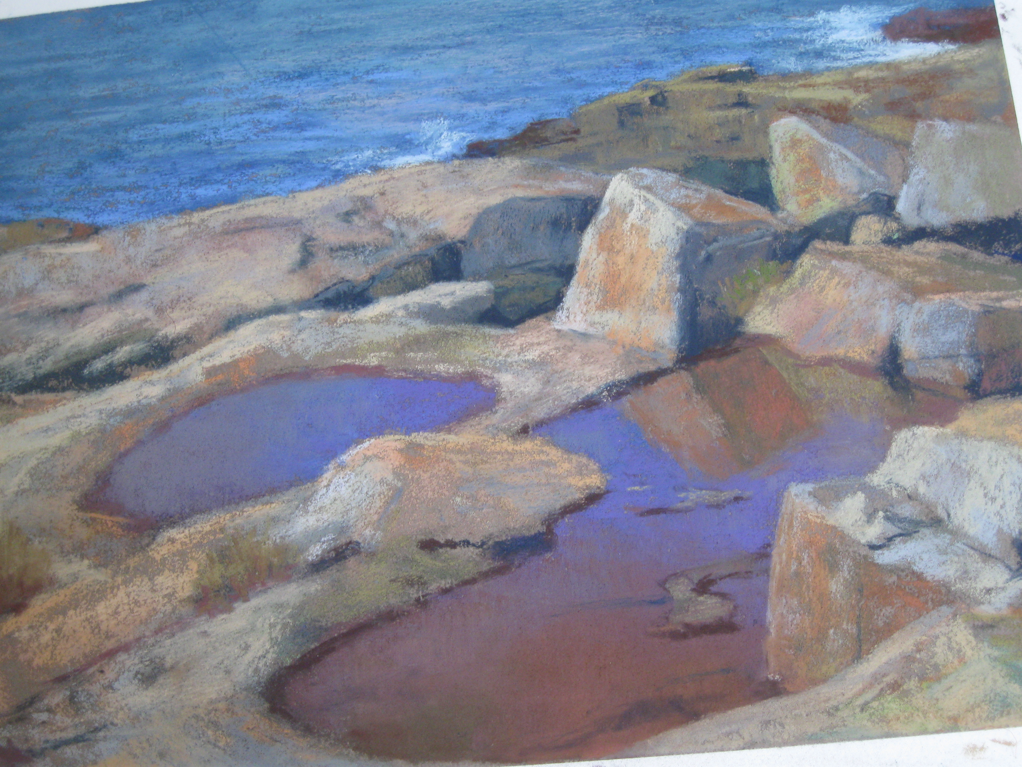 Tide Pools at the Point - Pastel
