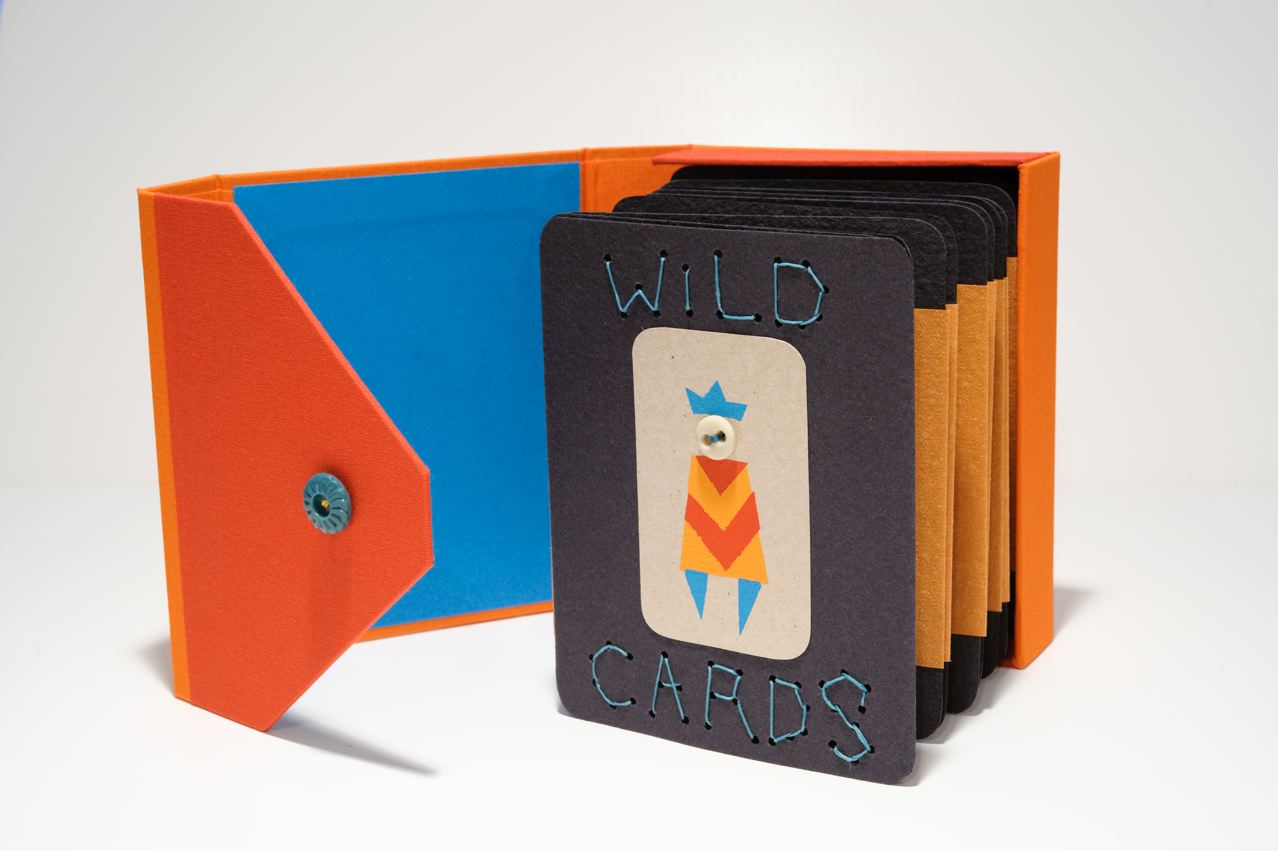 Accordian Book - Wild Cards by Barbara Mauriello