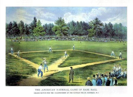 early baseball game