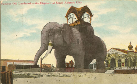 Atlantic City Elephant, circa 1910