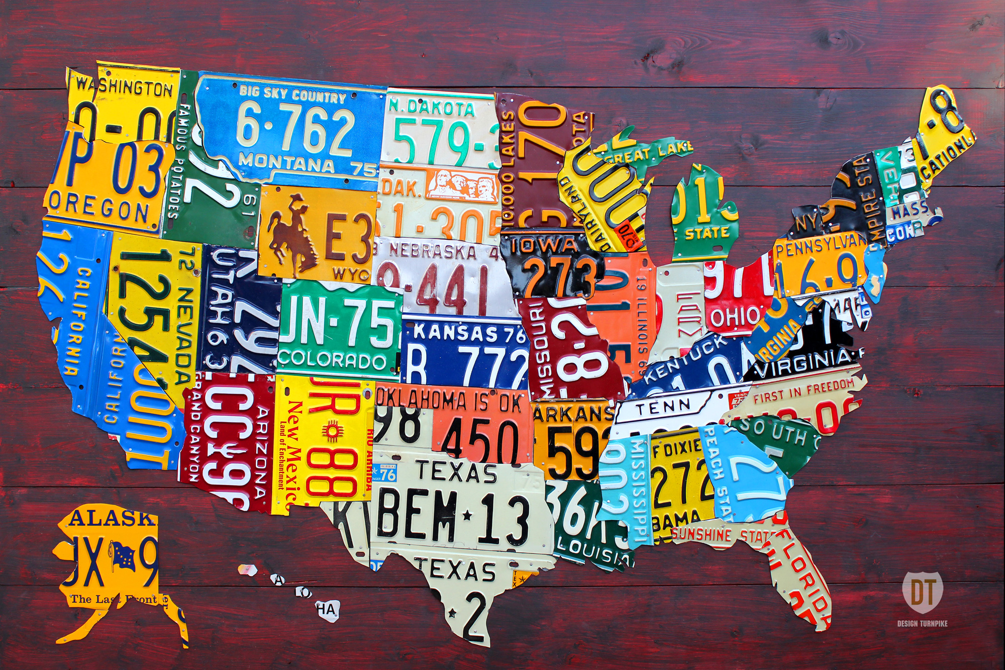 license plate map of usa
