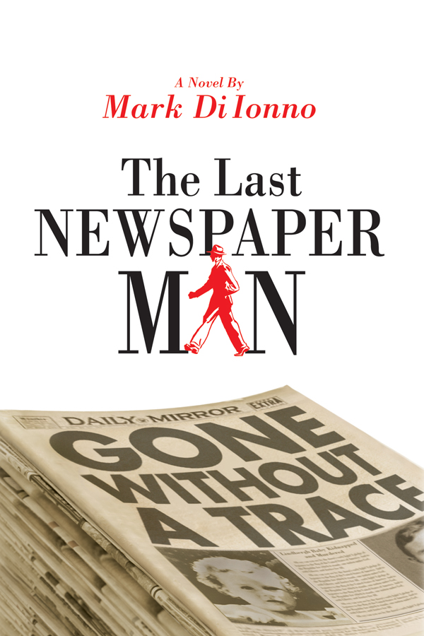 Book Cover Newspaper Man