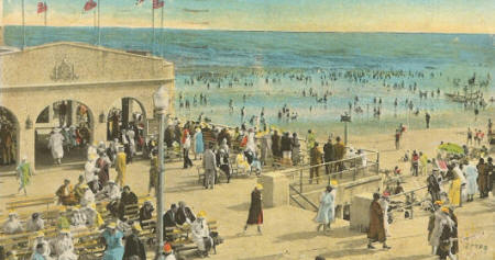 The Jersey shore postcard, circa 1910