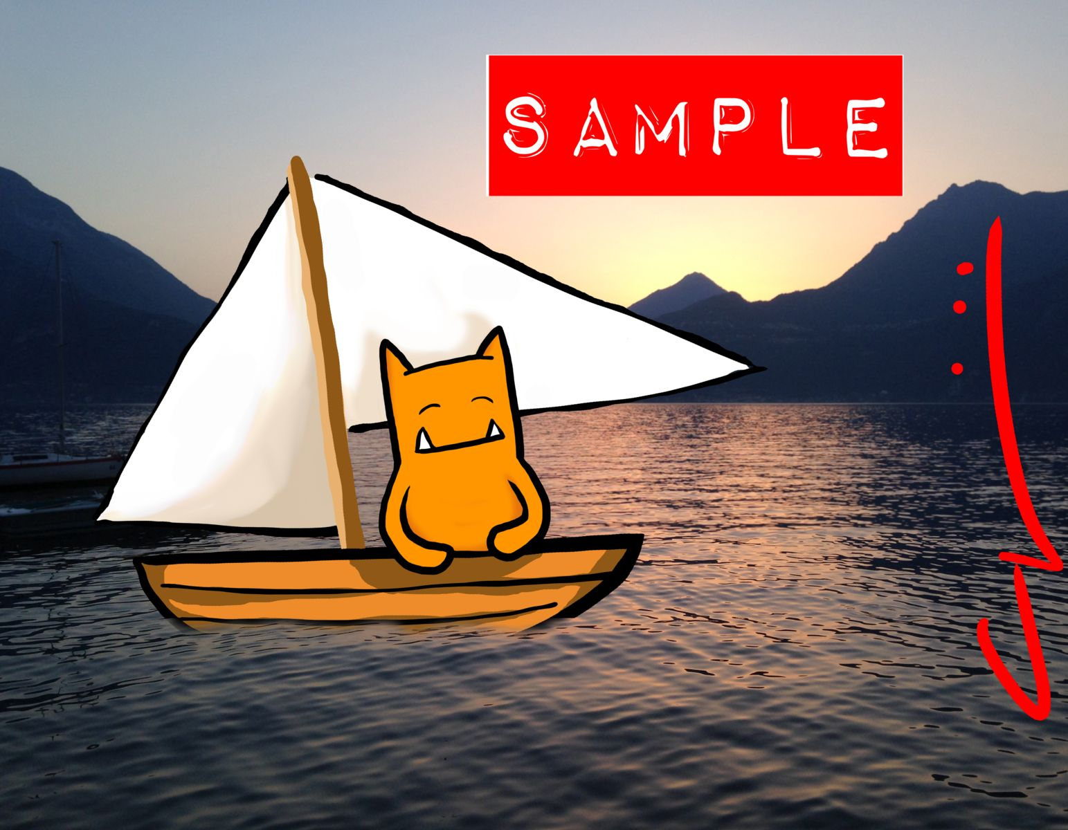 Sailboat: Sample of I Believe in Sailboats
