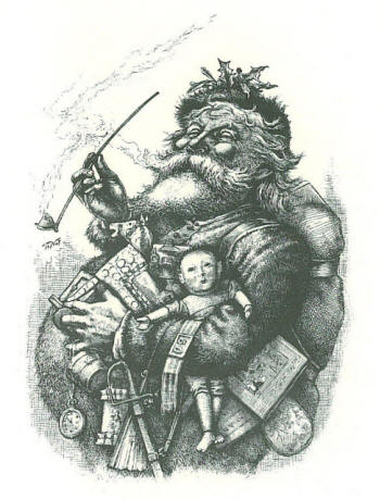 Merry old Santa, Thomas Nast, 1881
