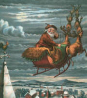 Santa on sleigh, Thomas Nast