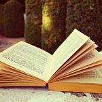 an open book in a park