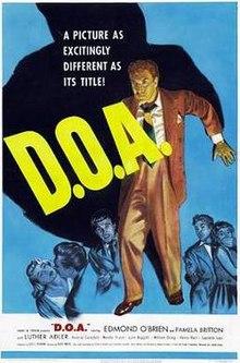 Film noir movie cover for D.O.A.