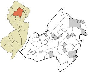 A simple map of New Jersey & Morris County.