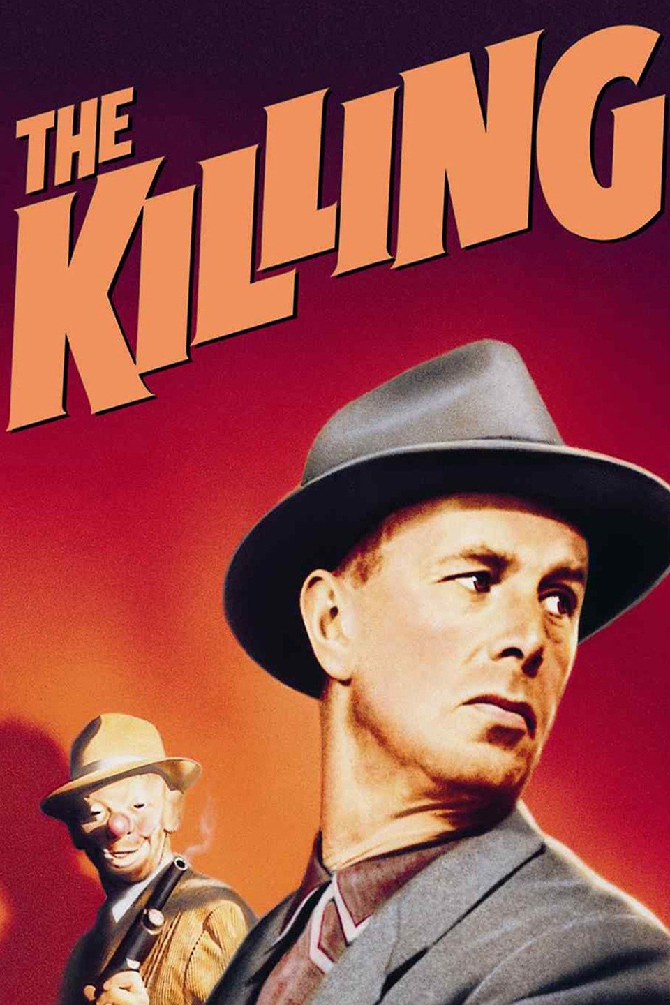 "Movie cover ""The Killing"" one man with gun, another looks over his shoulder"