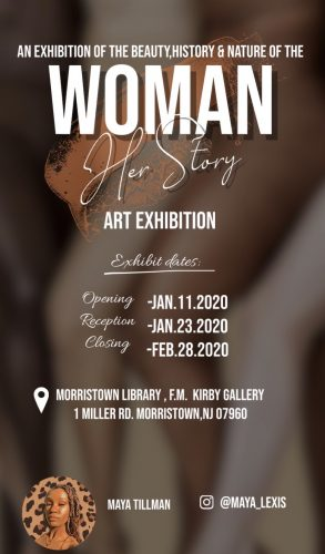 Exhibit Opening: January 11th 2020. Reception January 23rd 2020. Exhibit closing February 28th, 2020.