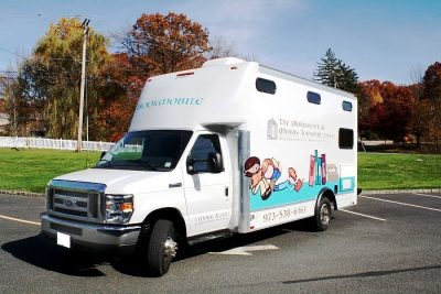 Bookmobile at Ginty Pool