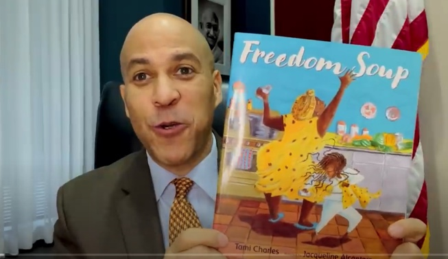 Senator Booker Reads Freedom Soup