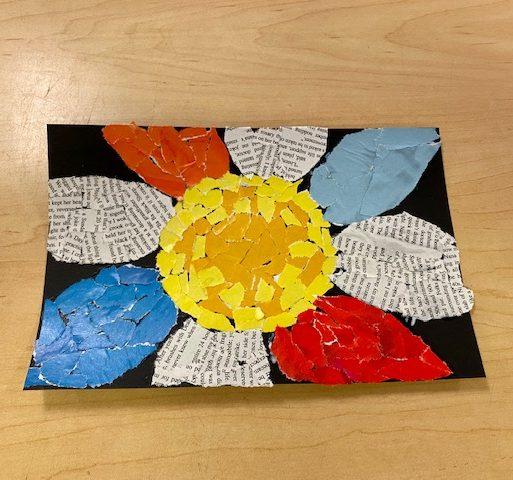 Teen Take & Make - Magazine Mosaic Art
